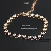 HEB054 Wholesale 14K Rose Gold Plated Women hot dimond Bracelets Fashion Jewelry Elegant high quality pulseras spring 2014