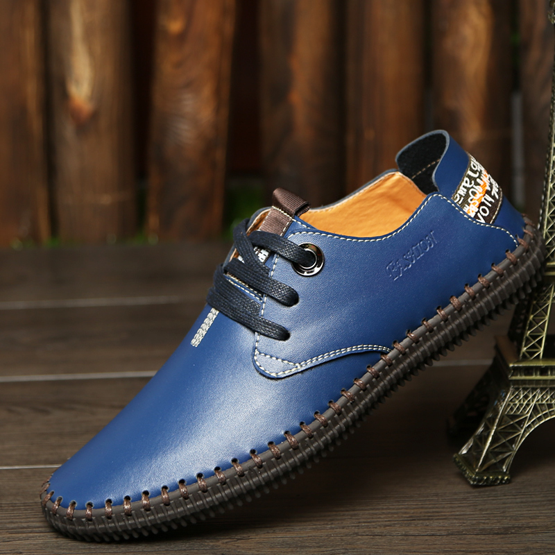 Men's Spring/Summer Casual Genuine Leather Urban Designer Oxfords ...