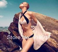 2014 New Design Hot Sling Black Pink Swimwear Elegance Sexy Bikini Female Solid Nylon Beachwear S/M/L Promotion