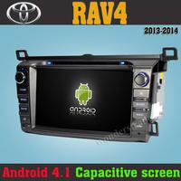 100% Pure Android 4.1 PC Car DVD GPS Radio Headunit multimedia stereo For  Toyota Rav4 2013 2014 + Capacitive Screen + Free map