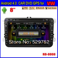 "free shipping navigation  8"" Andriod 4.0 Car dvd gps for SKODA Car Radio TOUCH SCREEN 3G Wifi Bluetooth TV IPOD"