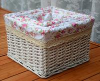 Rustic set wicker rattan snacks magazine miscellaneously storage clothes storage basket box bucket box