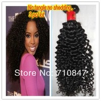 6A grade 100% brazilian virgin curly hair , 3 pc lot  free shipping !