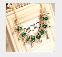 Luxury fashion, fine cut crystal necklace