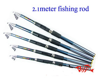 Wholesale 2.1meter FRP hard fishing Rods high quality distance throwing  Rod SG3303 Free Drop shipping