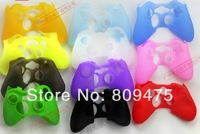1pcs low price free shipping Multiple Colors Protective Skin Silicone Gel Rubber case for xbox 360 Controller Case Cover