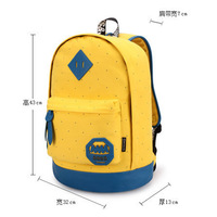 Promation!New 2014 casual women's colorful canvas backpacks girl lady student school bags travel shoulder bag mochila