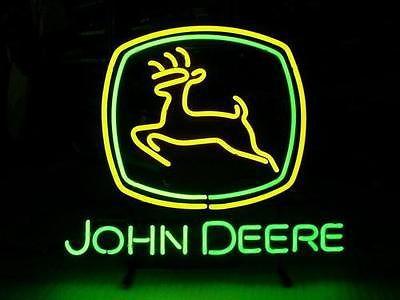 "NEW NEON LIGHT BEER PUB BAR SIGN JOHN DEERE 19""X15""(China (Mainland))"