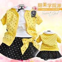 New children's skirt suit baby suit dress children's coat 1lot/4pcs+Free shipping