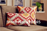 2014 New I Vintage Classic Pattern  pillow cover/ Linen Cotton cushion cover sofa cushion 45cm*45cm Decorative pillow  2pcs/lot