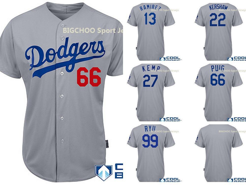 Los angeles dodgers 2014 authentic alternate cool base jerseys Yasiel Puig,Clayton Kershaw,Matt Kemp,Hanley Ramirez mens jerseys(China (Mainland))