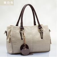 Vintage 2014 wax genuine leather cowhide cross-body one shoulder portable women's handbag 6 bags stone pattern bag