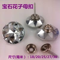 crystal buckle background wall soft bag decoration crystal button decoration picture button