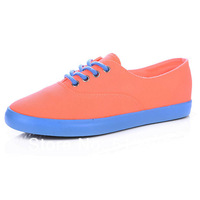 Girls' Casual  Low Heel Canvas Fashion Sneaker,Pink,Sky Blue,Blue Instock