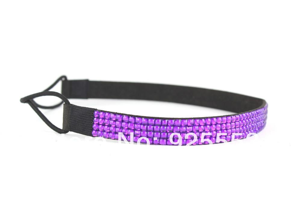 2014 glitter crystal elastic rhinestone headband bulk wholesale free shipping(China (Mainland))