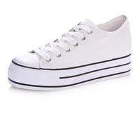 Girls' Formal  Platform Canvas Fashion Sneaker,White,Black,Red,Blue Instock
