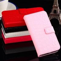 High quality Crocodile Grain Flip pu leather case with card holder FOR LG Optimus LTE 2 F160 F160L F160S F160K