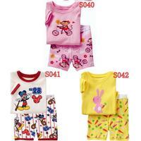 New Arrival kids short clothes set boys girls kids short  pajama set,cartoon children pyjamas, toddler sleepwear 2T-7T