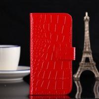 High quality Crocodile Grain Flip pu leather case with card holder FOR LG Google Nexus 4 E960