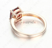 Limited Real Trendy Rings For Women Gorgeous 1ct Ruby Ring 18k Rose Gold Plated Austria Crystal