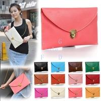 5pcs/lot Womens Envelope bag Clutch Chain Purse Tote Shoulder Handbag free shipping wholesale and retail 13255 F