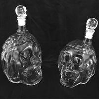 650ml Crystal Skull Head bottle Red Wine Glass Bottle wine decanter
