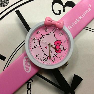New Arrival Free Shipping Fashion KT Hello Kitty Cat Cartoon Girls Watch Women Children Quartz Bowknot Wristwatches(China (Mainland))