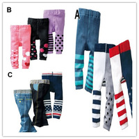 3pcs/lot 2014 Baby Girls&boys casual cotton pants children kids cartoon leggings elastic PP trousers baby pantyhose tihgts new