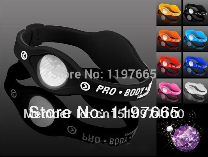 Power Energy Hologram color black Bracelets Wristbands Balance Ion Magnetic Therapy Fashion Silicone Bands bracelets&bangles(China (Mainland))