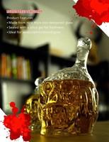 2pcs New Zombie Head bottle Red Wine Glass Bottle wine decanter 450ml