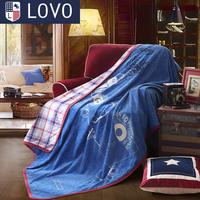 Lovo bedding 14 new arrival compound casual coral fleece blanket  Home & Garden Home Textile