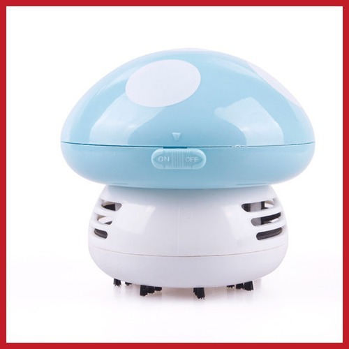 newest classic bidplus Mini Cute Mushroom Keyboard PC Desk Desktop Laptop Dust Collector Vacuum Cleaner Save up to 50% cheap(China (Mainland))