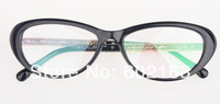 Oval Small Size Myopia Glasses Frame 3270 Acetate Frame with Metal Hollowed-out Brim Vintage Eyeglasses Frame for Women