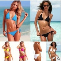Cheap promotional Free shipping Super popular Ladies Swimsuit Women's Bikini Sexy Two-piece Bathing suit black and white 5color