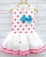 Fashion girls dress 2014 summer candy color girls sleeveless dress cotton dress kid's dresses CD4