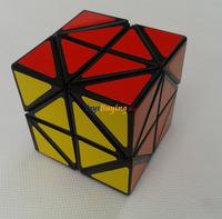 10pcs/lot Kuai shou zhi helicopter cube PVC sticker black/white base Twist puzzle magic cube toy Free Shipping