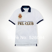 free shipping New 2014 Men's Short Sleeve slim fit, lapel  shirt, 100 & cotton PRL CLUE shirt
