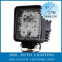 HOT !!!  27W 12V/24V DC LED Work Light For ATV, Tractor ,Train ,Bus ,Boat  ,4x4 ,UTV use