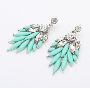 2014 est !! Bohemian Горный хрусталь Crystal &amp; Акрил earrings, Accessories<br><br>Новое ...