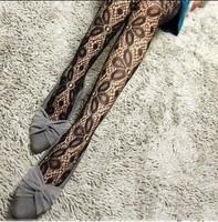 Free shipping 5pcs / lot 2014 new design Retro jacquard Lucky clover black  pantyhose tights ,sexy stocking