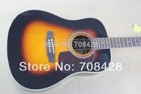 free shippin acoustic guitar sunburst color new arrival