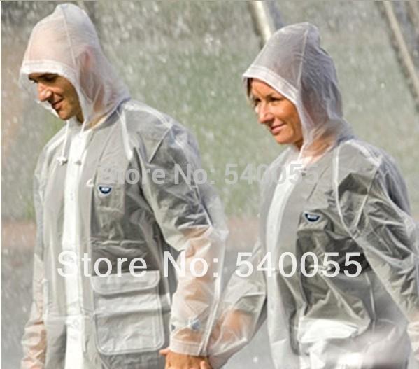 Women Men burberry_ Raincoat with hooded Transparent PVC waterproof rainwear Outdoors Trench Capa de chuva rain coat Womens(China (Mainland))