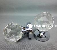 D60mm Free shipping 2pcs/set K9 crystal glass bedroom door handle no key