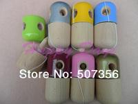 Via Fedex/EMS,  5 Hole Pill Kendama Toy Japanese Traditional Wood Game Kids Toy 11x5CM PU Coatting & Beech, 150PCS