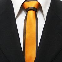 New Trend Mens Popular Skinny Neckties For Men Orange With Brown Unique Novelty Neck Ties Gravatas 5CM F5-F-3