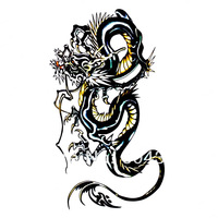Free ship/5pcs/lot/HM229,tatoo paper/arm,waist,back,chest,body/Chinese Dragon/waterproof,Rub-on transfer/CE