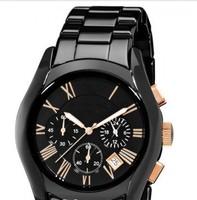 Free shipping high quality, Quartz Chronograph Ceramic watches for men AR1410