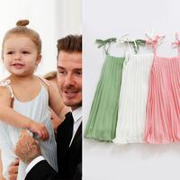 Retail New 2014 baby chiffon girl dress children clothing summer kids princessgirl dresses for 2-10ysfree shipping