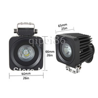 12V/24V 10W Cree LED Work Light 800LM Modular Spot High Power Reverse Lamp