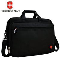 Swiss army shoulder bag canvas bag portable laptop 14 male commercial briefcase big capacity